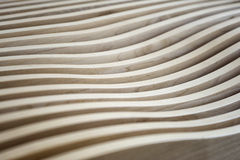 Wavy Wooden Surface Stock Images