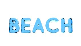 Wavy Word BEACH stock footage