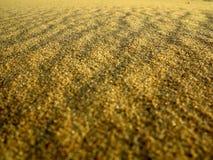 Wavy yellow sand texture background Stock Image