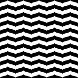 Wavy zig zag seamless pattern white and black 3d Royalty Free Stock Photography