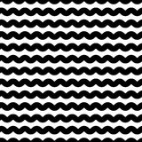 Wavy zigzag lines seamless pattern. Distorted lines texture. Royalty Free Stock Image