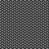 Wavy zigzag lines seamless pattern. Distorted lines texture. Stock Image