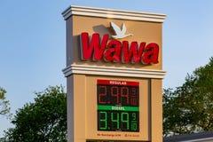 WaWa CGas定价标志 图库摄影