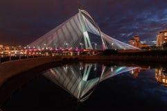 Wawasan bridge at night. This bridge located at putrajaya, malaysia Royalty Free Stock Photography