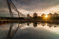 Wawasan bridge before sunset. This bridge located at putrajaya, malaysia Royalty Free Stock Image