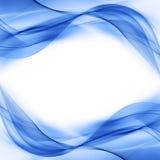 Wawe blu astratto Fotografie Stock Libere da Diritti