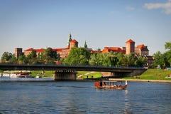 Wawel城堡。 库存照片