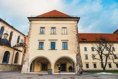 Wawel城堡内在庭院在克拉科夫,波兰 图库摄影