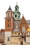 Wawel城堡,隔绝在白色背景 免版税库存图片