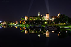 Wawel城堡Zamek Krolewski -克拉科夫,波兰 免版税库存图片