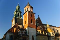 Wawel大教堂和Wawel城堡在克拉科夫,波兰 免版税库存图片