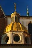 Wawel大教堂的Sigismund教堂在克拉科夫 库存图片