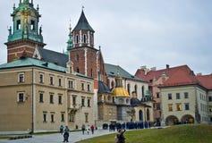 Wawel大教堂,克拉科夫波兰 库存图片