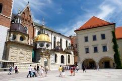 Wawel大教堂,皇家城堡在克拉科夫,波兰 免版税库存图片