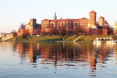 Wawel强光 图库摄影