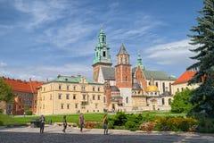 Wawel皇家城堡,克拉科夫,波兰Wawel大教堂  免版税库存照片