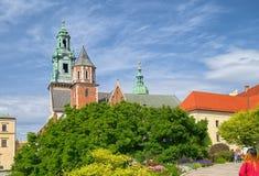 Wawel皇家城堡,克拉科夫,波兰Wawel大教堂  免版税图库摄影