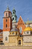 Wawel皇家城堡,克拉科夫,波兰Wawel大教堂  库存照片