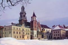 Wawel美丽的宫殿在克拉科夫 免版税库存图片