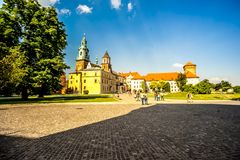 Wawel в Cracow, Польше Стоковые Изображения RF