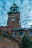 Wawel - королевский замок над Рекой Висла в Кракове Польше Стоковое фото RF