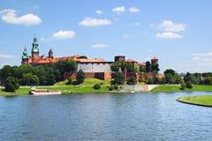 防御历史记录克拉科夫中世纪纪念波兰wawel 克拉科夫波兰 免版税库存图片