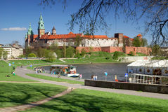 Wawel - castelo real em Krakow Foto de Stock