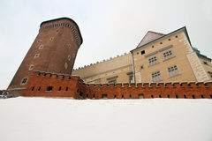 Wawel Castle το χειμώνα Στοκ εικόνα με δικαίωμα ελεύθερης χρήσης