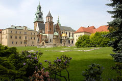 Wawel Castle. Vie of the Krakow cathedral on Wawel castle i Warsaw, Poland Stock Photo