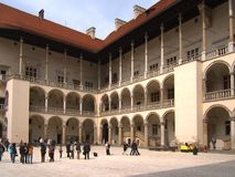 Wawel castle. Arcaded courtyard of the Wawel castle in October 2012, Krakow, Poland Stock Photography