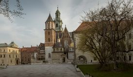Wawel Castle cathedral in Krakow, Poland Royalty Free Stock Images