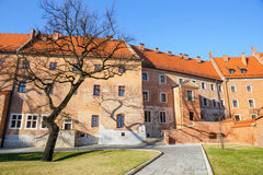 Wawel castle and cathedral in Krakow Royalty Free Stock Image