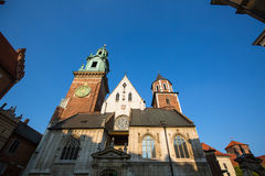 Wawel castle with cathedral in Krakow. Stock Images