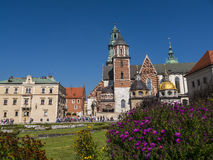 Wawel Castle and the Cathedral of Krakow in Poland Royalty Free Stock Photography