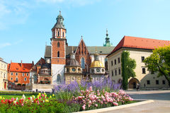 Wawel Castle complex in Krakow Stock Images