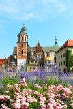 Wawel Castle complex in Krakow Royalty Free Stock Images