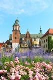 Wawel Castle complex in Krakow Royalty Free Stock Images