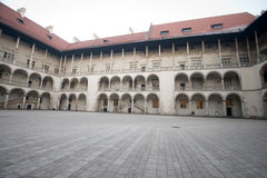 Wawel castle courtyard Stock Photos
