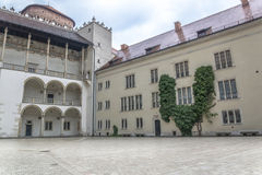 Wawel castle courtyard. In Krakow. Poland Royalty Free Stock Images
