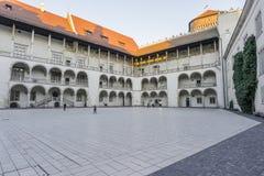 Wawel castle courtyard stock image