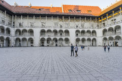 Wawel castle courtyard Royalty Free Stock Photos