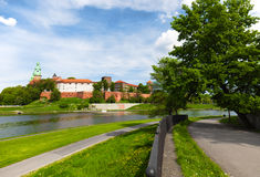 Wawel Castle in Cracow Stock Images