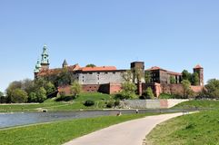 Wawel Castle in Cracow, Poland royalty free stock photos