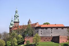 Wawel Castle in Cracow, Poland Royalty Free Stock Image