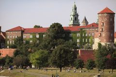 Wawel Castle in Cracow, Poland. The historical Wawel Royal Castle in Cracow, Poland Stock Images