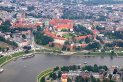 Wawel Castle in Cracow Stock Photos