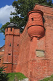 Wawel Castle in Crakow - old wall Royalty Free Stock Image