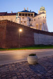 Wawel Castle at Dusk in Krakow Stock Images