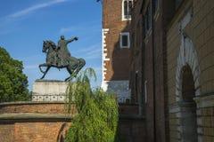 Wawel castle entrance Royalty Free Stock Photo