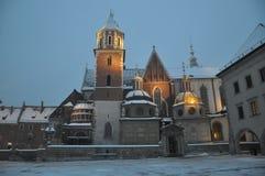 Wawel castle in evening krakow Stock Image